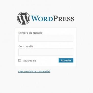 Acceder al panel de administración de WordPress