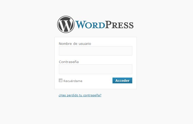 login-en-wordpress